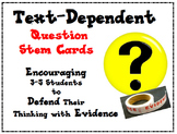 Text-Dependent Question Stem Cards for Close Reading in Grades 3-5