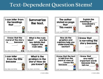 Text Dependent Question Stems