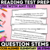 Text Dependent Question Stems Grade 3-5 (SBAC)