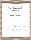 """Text Dependent Questions & Flashcards for """"My Lucky Day"""""""