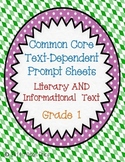 Text Dependent Questions: Grade 1
