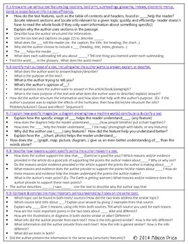 Text Dependent Questions: Grade 2