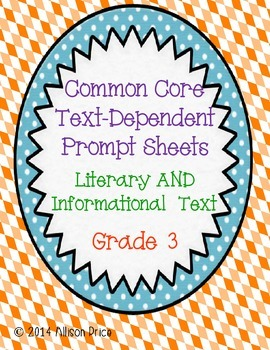 Text Dependent Questions: Grade 3