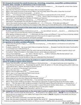 Text Dependent Questions: Grade 5