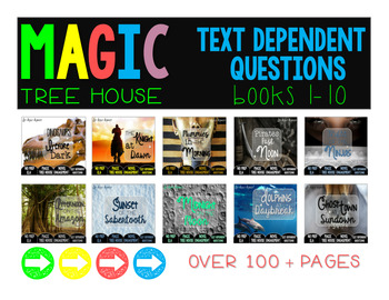 Text Dependent Questions: Magic Tree House Books 1-10