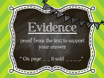 Text Dependent Questions Posters
