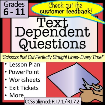 Text Dependent Questions ,Text Complexity, and ReReading