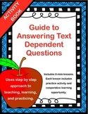 Text Dependent Questions -  Strategies and Activities Booklet