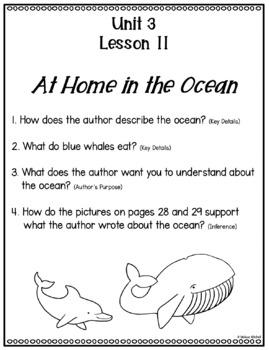 Text Dependent Questions Unit 3 Journeys First Grade