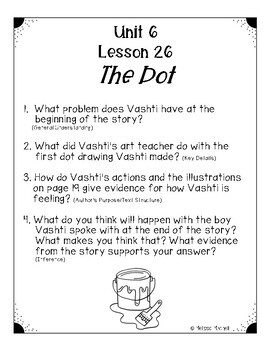 Text Dependent Questions Unit 6 Journeys First Grade