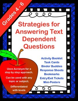 Answering Text Dependent Questions - A Year Long Mega-Pack