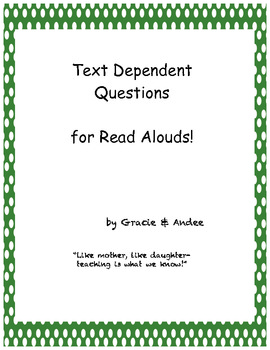 """Text Dependent Questions and flashcards for """"Duck on a Bike"""""""