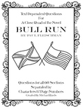 Text Dependent Questions for A Close Read of Bull Run by Paul Fleischman