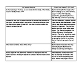 Text Dependent Questions for each story, Grade 4, Unit 2, Treasures (2009)