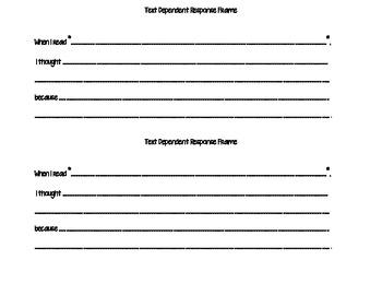 Text Dependent Response Frame