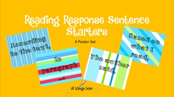 Text Dependent Sentence Starters