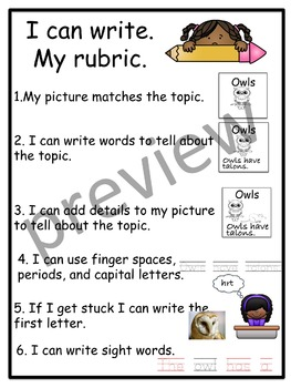 Text Dependent Writing Rubric