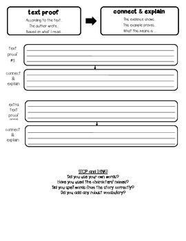 Text-Dependent Written Response Graphic Organizer