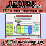 Text Evidence: Writing about Reading Digital Interactive Slides