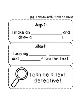 Text Detective Making Inferences Drawing Conclusions Interactive Notebook