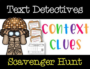 Text Detectives: Context Clues Scavenger Hunt Game (FREE Video in Description)