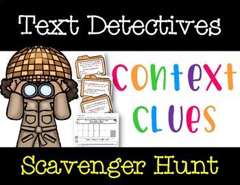 Text Detectives: Context Clues Scavenger Hunt Game (FREE Video in Description)