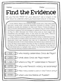 Text Detectives- Find the Text Evidence! May Edition