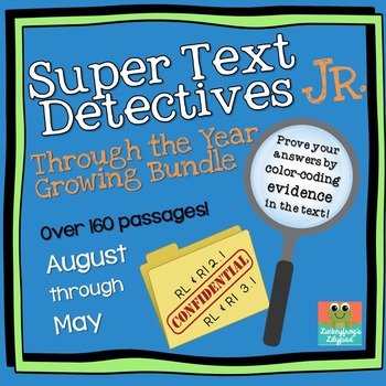 Text Detectives Jr.- Find the Text Evidence BUNDLE! (2nd Grade)