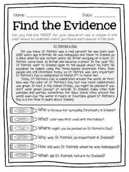 March Text Detectives Jr.- Text Evidence for 2nd Grade