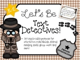 ELA Common Core for K-2- Text Detectives