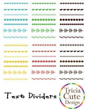 [Free] Text Dividers Clip Art