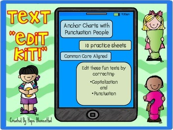 "Text ""Edit Kit""- A Fun Text Editing Activity for Good Text ""Etiquette"""