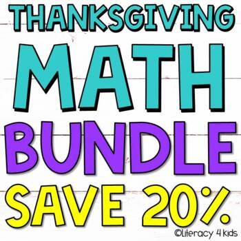 Thanksgiving Math Activities $$$ Savings BUNDLE for 2nd Grade