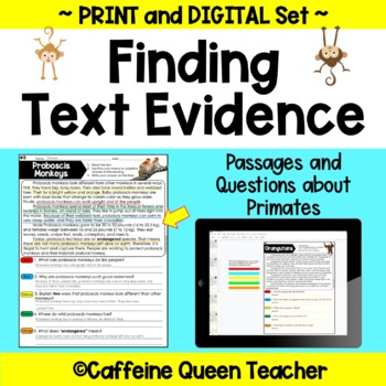 Text Evidence - Reading Comprehension - Nonfiction Passages