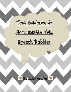 Text Evidence & Accountable Talk Speech Bubbles
