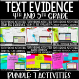 Text Evidence Activities | Citing Text Evidence with Digit