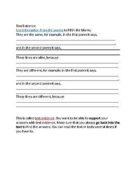 Text Evidence Activity