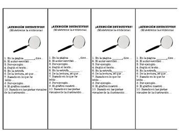 Text Evidence Bilingual Spanish and English