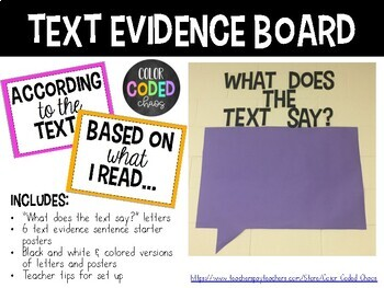 Text Evidence Board