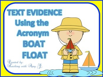Text Evidence Bookmark, Starter Practice Strips and Classr