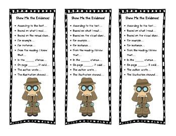 FREEBIE Text Evidence Bookmarks