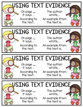 Text Evidence Bookmarks (Freebie)