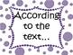 Text Evidence Bulletin Board display with copybook notes- PURPLE