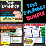 Text Evidence: A Bundle of Activities