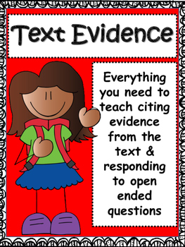 Text Evidence: Open Ended Responses Bundle