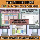 Text Evidence Bundle: DIGITAL Interactive Activities