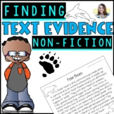 Text Evidence Citing (Non-fiction Reading Comprehension Pack)
