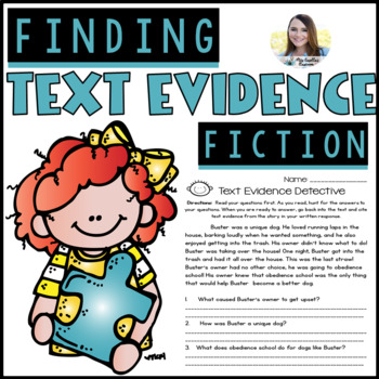 Text Evidence Citing (Reading Comprehension Pack)