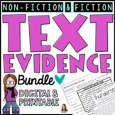 Citing Textual Evidence Comprehension Bundle   Google Form
