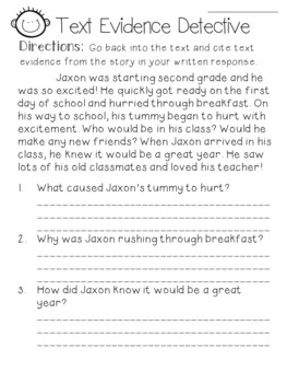 text evidence citing reading worksheetfreebie - Citing Textual Evidence Worksheet